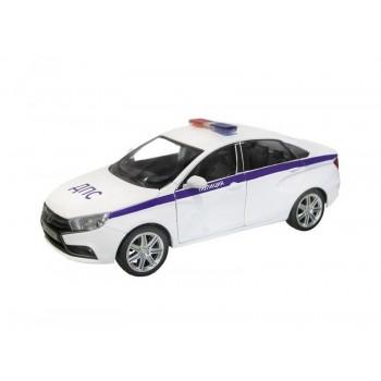 """Машина """"АВТОПАНОРАМА"""" LADA VESTA """"Полиция"""" седан, 1/24, свет. звук. эффекты, в/к 24,5*12,5*10,5 см"""