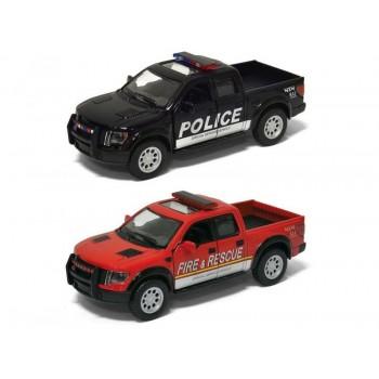 Машина Kinsmart 1:40 Ford F-150 Police Fire Rescue в асс. инерция (1/12шт.) б/к