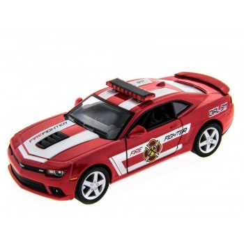 Машина Kinsmart 1:38 Chevrolet Camaro 2014 (Police/Fire) инерция (1/12шт.) б/к