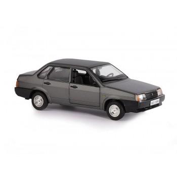 """Машина """"АВТОПАНОРАМА"""" ВАЗ 21099, 1/22, серый, инерция, в/к 24,5*12,5*10,5 см"""