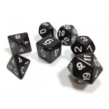 Набор ZVEZDA из 7 черных игровых кубиков для ролевых игр