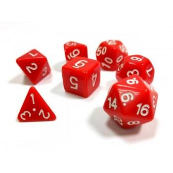 Набор ZVEZDA из 7 красных игровых кубиков для ролевых игр, 7 шт
