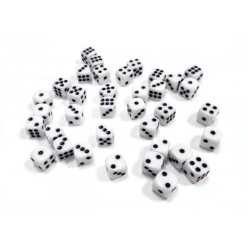 """Набор белых игровых кубиков ZVEZDA """"D6"""", 12мм, 36 шт"""
