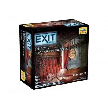 """Настольная игра ZVEZDA """"EXIT Квест. Убийство в восточном экпрессе."""", семейная"""