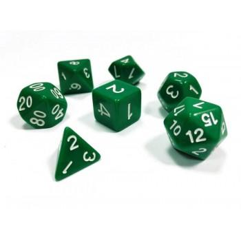 Набор ZVEZDA из 7 зеленых игровых кубиков для ролевых игр, 7 шт