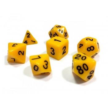 Набор ZVEZDA из 7 желтых игровых кубиков для ролевых игр, 7 шт