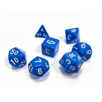 Набор ZVEZDA из 7 синих игровых кубиков для ролевых игр, 7 шт