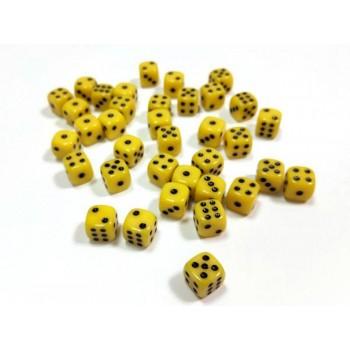 """Набор желтых игровых кубиков ZVEZDA """"D6"""", 12мм, 36 шт"""