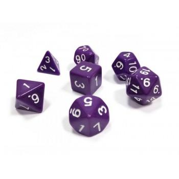 Набор ZVEZDA из 7 филетовых игровых кубиков для ролевых игр, 7 шт