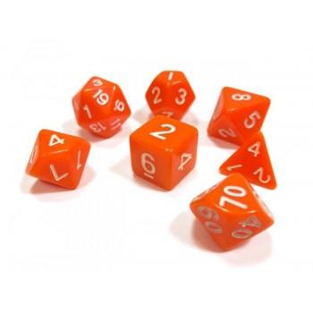 Набор ZVEZDA из 7 оранжевых игровых кубиков для ролевых игр, 7 шт