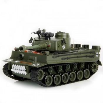 Радиоуправляемый танк HouseHold German Tiger Green масштаб 1:20 40Mhz - 4101-2