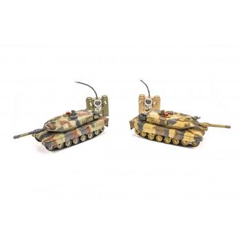 Радиоуправляемый танковый бой Huan Qi Abrams vs Abrams масштаб 1:24 27Mhz vs 40Mhz- HQ558