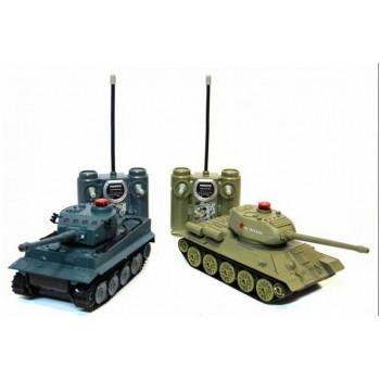 Радиоуправляемый танковый бой Huan Qi Т34 и Tiger масштаб 1:28 RTR - 508-555