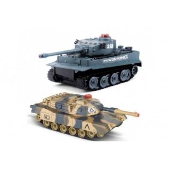 Радиоуправляемый танковый бой Huan QI Tiger vs Leopard масштаб 1:28 2.4G - 508C