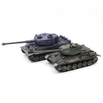 Радиоуправляемый танковый бой Русский Т34 и Немецкий Tiger Zegan масштаб 1:28 27Mhz 40Mhz - 99824