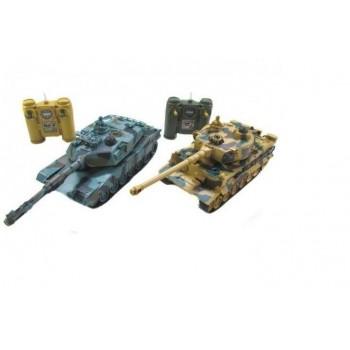 Радиоуправляемый танковый бой Zegan Leopard 2A5 vs Tiger I масштаб 1:28 RTR 27 Mhz - 99823