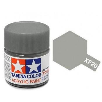 Краска для склеиваемых моделей (акрил) XF-20 Medium Grey - TAM-81720
