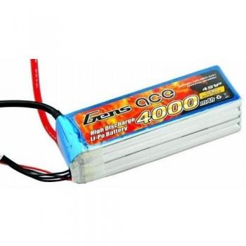 Li-Pol Battery Gens 4S1P 4000mAh 14,8V MAX 120C (без разьема)