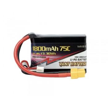 Аккумулятор LiPo Vant - 7.4В 1800мАч 75C 2S (Разъем XT60)