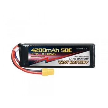 Аккумулятор LiPo Vant - 7.4В 4200мАч 50C 2S (Разъем XT60)