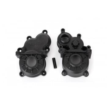 Половинки коробки передач (передняя и задняя) Gearbox halves (front & rear)  idler gear shaft - TRA8691