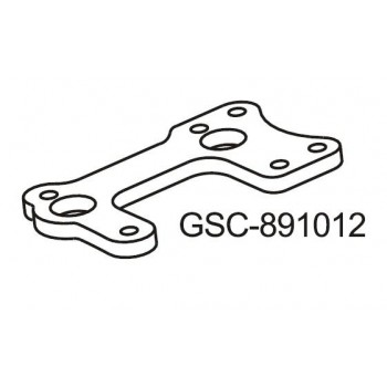 Carbon Fiber Center Diff Support Plate - GSC-891012