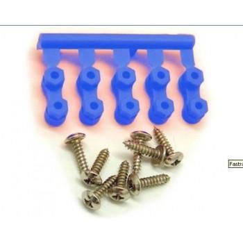 Набор для крепления сервомашинок (BLUE SERVO MOUNTS) - FAST41B