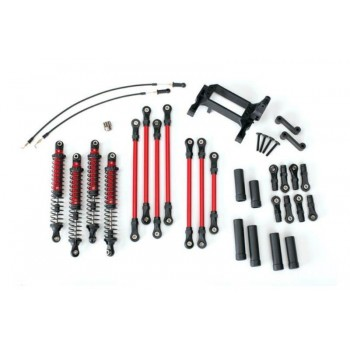 Комплект увеличения клиренса Long Arm Lift Kit для TRX-4 (красное анодирование)