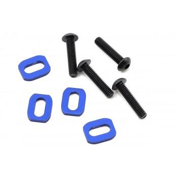 Крепёж мотора и шайбы моторамы, синие, 4 шт. - TRA7759
