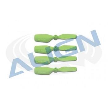 Винт хвостовой 41мм, 4шт (зеленый), T-Rex 150 - HQ0203BT